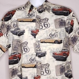 Historical Route 66 Ford Thunderbird Camp Shirt